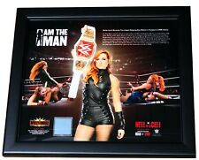 WWE BECKY LYNCH THE MAN LONGEST REIGNING CHAMP 15X17 LICENSED PLAQUE LIMITED EDT