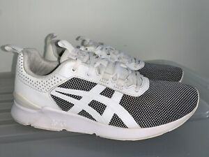 Mens ASICS GEL LYTE RUNNER White Black Sneakers US 7 #19590