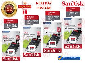 Genuine SanDisk Ultra MicroSD TF Card 16GB 32GB 64GB 128GB Class 10 SDXC Memory