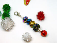 Charm or Purse and Bag Tassel Jingle Bell European Bead Decorative Only Zipper
