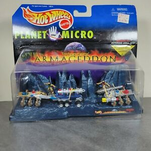 1997 Hot Wheels Planet Micro armageddon Mission # 2 Asteroid Drill Site MOC
