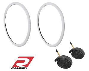 "Raleigh 28"" x 1 5/8 - 1 3/8"" (700c x 35-38c) Hybrid Trekking Tyre or Tube White"