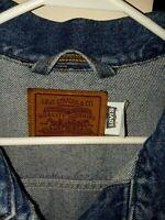 Levis Denim Jacket Trucker Jean Coat Medium Wash size large