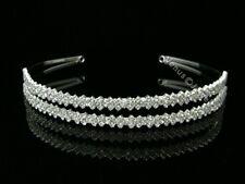 Bridal Double Band Rhinestone Crystal Wedding Headband Tiara 8477