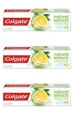 Colgate Natural Extracts Ultimate Fresh Lemon Toothpaste 3x 75 ml Oral Care