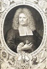 c1680 Johann Melchior Illsung Stadtpfleger Augsburg Kupferstich Portrait
