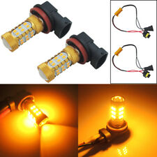 Amber H11 H8 Car Truck Fog Lights 27-SMD LED Bulbs w/ Decoder Error Free CANBUS
