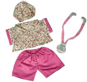 "Nurse Scrubs w/Cap Teddy Bear Clothes Fits Most 14"" - 18"" Build-a-bear and Make"