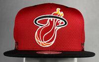 Mitchell and Ness NBA Miami Heat Woven Stripe Snapback Hat, New, 100% Polyester
