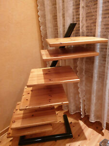 Audio/Phono Regal Holz Stahl Konstruktion schräg