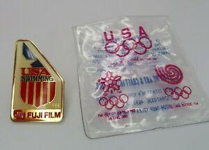 USA Swimming Fuji Film Olympic Lapel Pin Olympics 1988