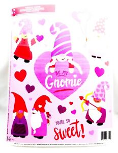 Valentine Reusable Window Clings - GNOMES Word Sayings SALE