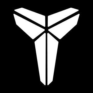 Kobe Bryant Black Mamba white logo 2 PACK Decal/Sticker - FREE SHIPPING