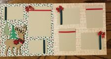 Reindeer Games #3 Pre Made Scrapbook Pages