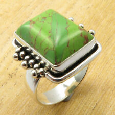 GRANDFATHER'S Ring Size 8.25 Green Copper Turquoise Silver Plated Jewelry NEW