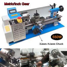 """Upgrade 7""""x14"""" Mini Metal Lathe 550W Metal Iron Copper BenchTop Metric/Inch Gear"""