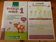 5 Pakete Bioland Bio Babymilch Anfangsmilch 1 ungeöffnet ab Geburt Baby Milch