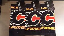 NEW CALGARY FLAMES NHL WASH CLOTH LOT OF 3 OFFICIALLY LICENSED PRODUCT WITH TAGS