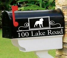 Staffy Bull, Staffordshire Bull Terrier Set of 2 mailbox decals Mai-33