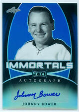 "JOHNNY BOWER ""IMMORTALS AUTOGRAPH #13/15"" LEAF METAL DRAFT HOCKEY 2016"