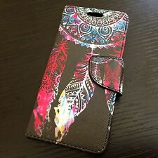 HTC Desire 530 - WATERCOLOR DREAMCATCHER Card Slot Wallet Money Pouch Case Cover