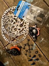 Shimano BR-M7000 SLX Hydraulic Disc Brake Calipers & RT66 180mm Rotors inc. Pads