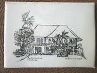 M Leineweber Halekulani Note Paper & Envelopes Vintage Sealed Waikiki -D9-9