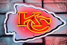 "Kansas City Chiefs Bar Beer Light Lamp Neon Sign 20"" With Hd Vivid Printing"