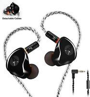 in-Ear Monitors in Ear Headphone Earbuds Wired Earphone Dual Drivers Headphone w