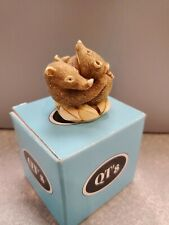Harmony Kingdom Qt'S Cuties Figurine Nib New Box Take A Nap Ant Eater Aardvark