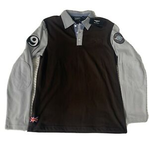 Bentley No. 9 Heritage Collection Polo Long Sleeve T-shirt Elbow Patch Size M