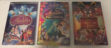 Aladdin Trilogy (Aladdin 1, King of Thieves, & Return of Jafar) 3 DVDs Free Ship