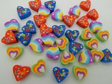 24 Mini Heart Shaped Love Unicorn Erasers Rubbers Party Bag Treat Eraser Novelty
