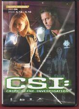 CSI: Crime Scene Investigation - QUARTA STAGIONE vol. 4 -DVD NUOVO NO CELLOPHANE