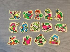 14 Retro Vintage 1990's Neon Stickers Kids Children's Collection Stationary Cute