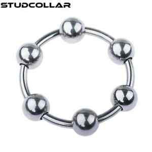 STUDCOLLAR-GLANS-RING - Stainless Steel 6 Ball Penis Rings in SIX SIZES !!!