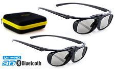 2x Hi-shock 3d Occhiali Black Heaven per Bluetooth TV Sony, Samsung, Sharp