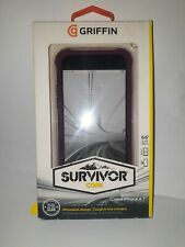 Griffin Survivor Clear Case Back Cover for iPhone 6 6S 4.7 inch Purple GB38866