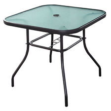 """32 1/2"""" Patio Square Bar Dining Table Glass Deck Outdoor Furniture Garden Pool"""