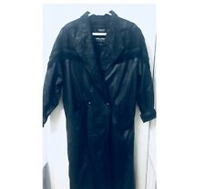 Vintage 80s Wilson's Long Leather Coat w/ Thinsulate Lining, Sz Womens L or Xl