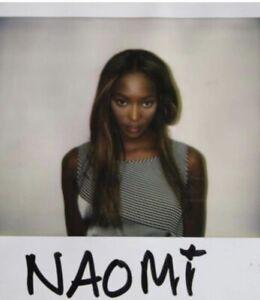 NAOMI CAMPBELL - AN EARLY CASTING POLAROID SHOT !!!