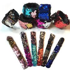 Glitter Sequin Bracelet Snap Slap Wrist Band Reversible Sequin  Birthday Gift