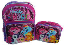 "MY LITTLE PONY Large School Backpack 16"" with Lunch Insulated Box Combo Set! NEW"