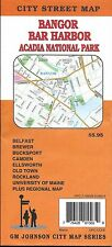 City Street Map of Bangor, Bar Harbor, & Acadia Nat'l Park, Maine, by GMJ Maps