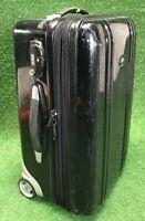 "Zero Halliburton Black Polycarbonate Carry-On Luggage 21"" x 13"" x 10"" Rolling"