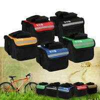 Cycling Bicycle Bike Top Frame Front Pannier Saddle Tube Bag Double Pouch FT