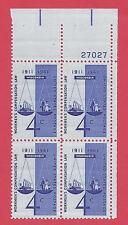 U.S. SCOTT 1186 MNH 4 CENT PLATE BLOCK OF 4 - 1961 - WORKMEN'S COMPENSATION