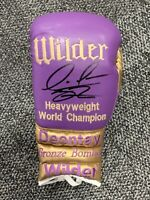 Exclusive Branded Deontay Wilder Signed Boxing Glove Bronze Bomber PROOF COA