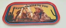 """Rare Roy Rogers Mini Tin Tray Sign & magnets """"Happy Trails To You""""  MINT"""