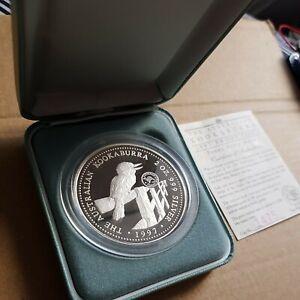 Australia kookaburra 2oz Silver Proof Coin. Penny Privy Mark..#1475